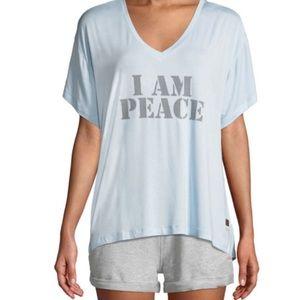 NWT PEACE LOVE WORLD MIA V-NECK BABY BLUE